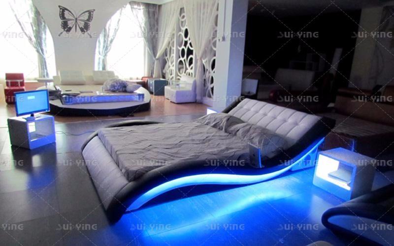 Tela/cuero Descuento Blanco Muebles De Dormitorio Venta - Buy ...