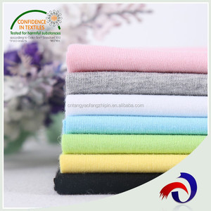 High Quality T Shirts Material Plain Dyed Single Jersey Knitted 100% Cotton Fabric