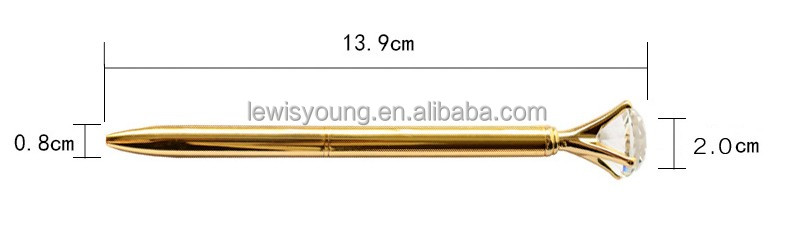 Hot Sale Jewely Big Diamond Metal Ball Point Pen