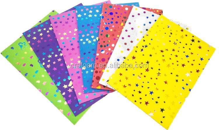 colorful ridescent gilded pattern printing evanontoxic trabajos hechos con goma eva