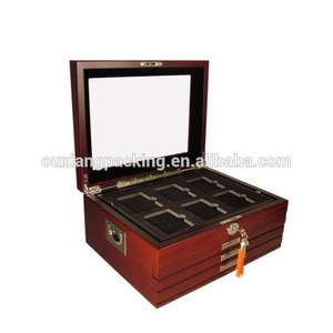 1 NEW Deluxe Glass Top Wood Display Storage Box for 24 PCGS NGC Slabbed Coins