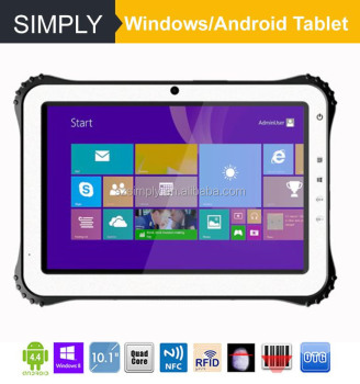 Simply T8 8 Inch Windows 10 Rugged Tablet With 1d 2d Barcode Scanner Nfc Reader Gps 2 32gb Bluetooth 4 0