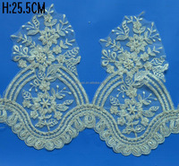 new fashion factory wholesale soft white bridal lace trim with cheap price