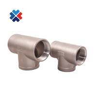ss304 Steel 3 way Female Threaded Pipe Fittings NPT Tee