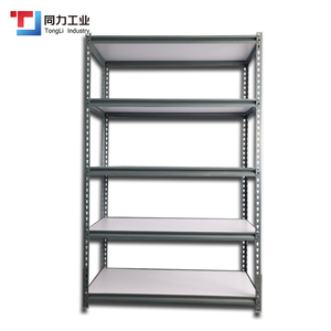 Factory Supplier Boltless Rack Fibreboard Shelf Etagere Metal Shelf Steel Slotted Angle Rack