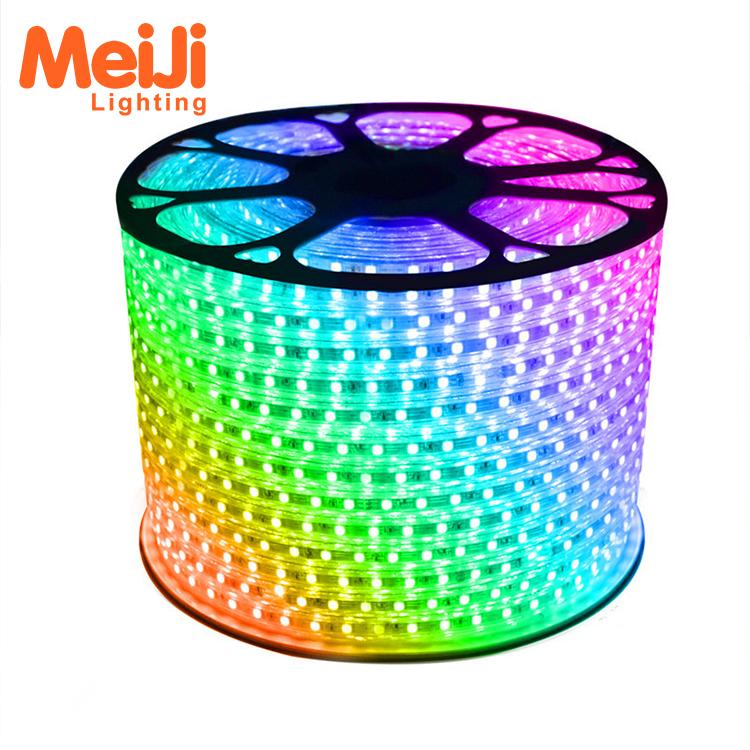 Cost effective 110v 220v high lumens output 5050 rgb flowing led strip light
