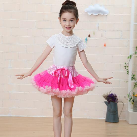 f29d9da3ec102f Teenager Mädchen Tutu Mini röcke Fluffy Kids Mädchen Petti röcke Prinzessin  tanzabnutzung party flauschige Tüll TuTu