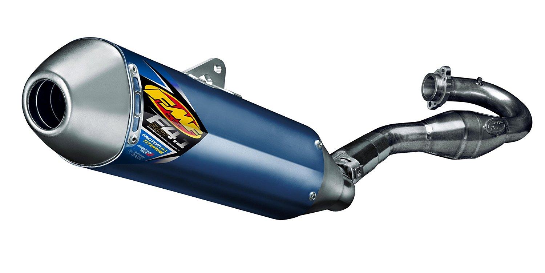 FMF Racing Factory 4.1 RCT Full System - Blue Anodized - Titanium Endcap, Color: Blue, Material: Titanium 045551