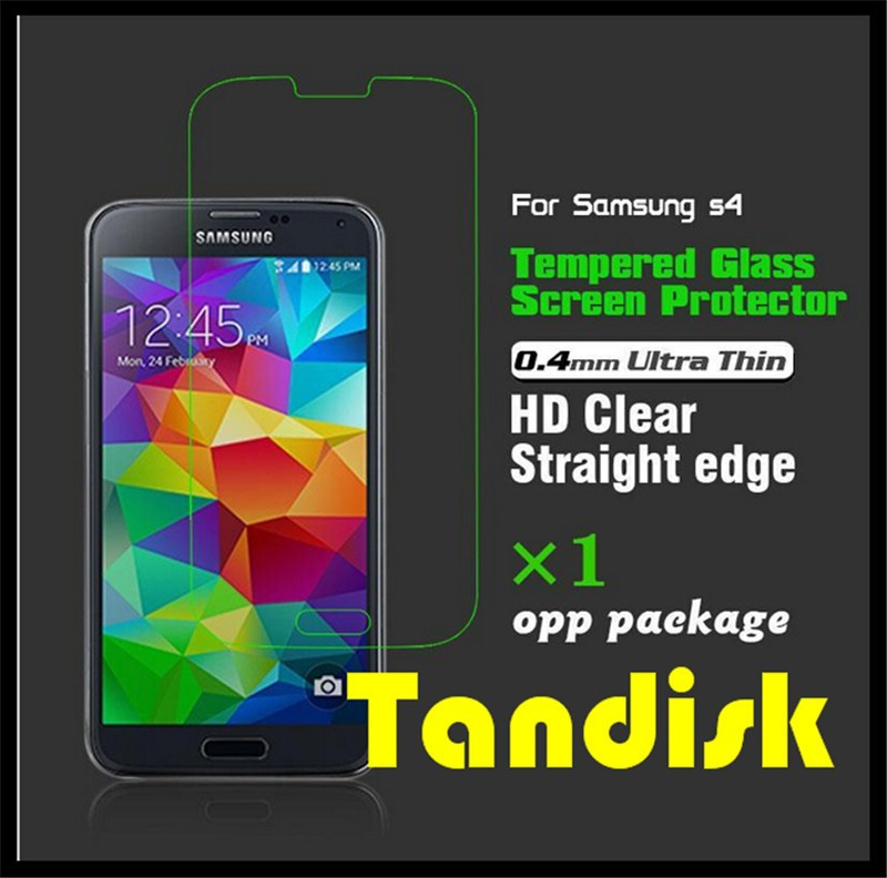 0.4mm Premium Quality Tempered Glass Screen Protector Film for Samsung Galaxy S4 i9500