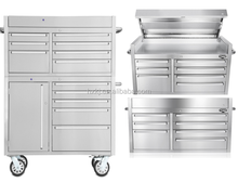 41 Inch Rectangular Stainless Steel Storage Box Tool Cabinets Boxes With Lid Wheels