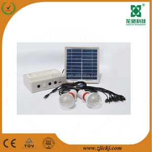 Indoor use 3W solar home lighting system for Africa with mobile phone charger function