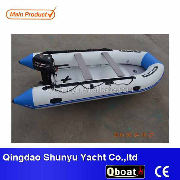 cheap 4.3m inflatable boat with outboard motor