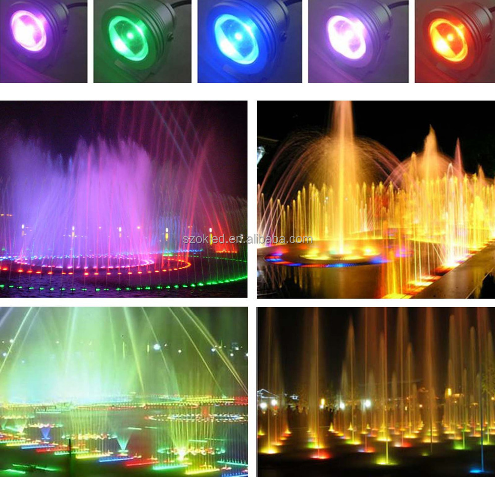 Lights & Lighting Strict 16 Colors 10w Dc 12v Rgb Led Underwater Fountain Light 1000lm Swimming Pool Pond Tank Aquarium Led Light Lamp Ip67 Waterproof Led Underwater Lights