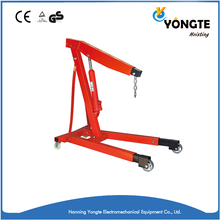 Portable small lift hydraulic engine shop crane for sale