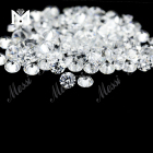 0.8mm AAA quality china manufacturer white Round cubic zirconia