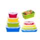 4pack leak proof silicone food storage containers eco folding silicone collapsible lunch box for kid kitchen