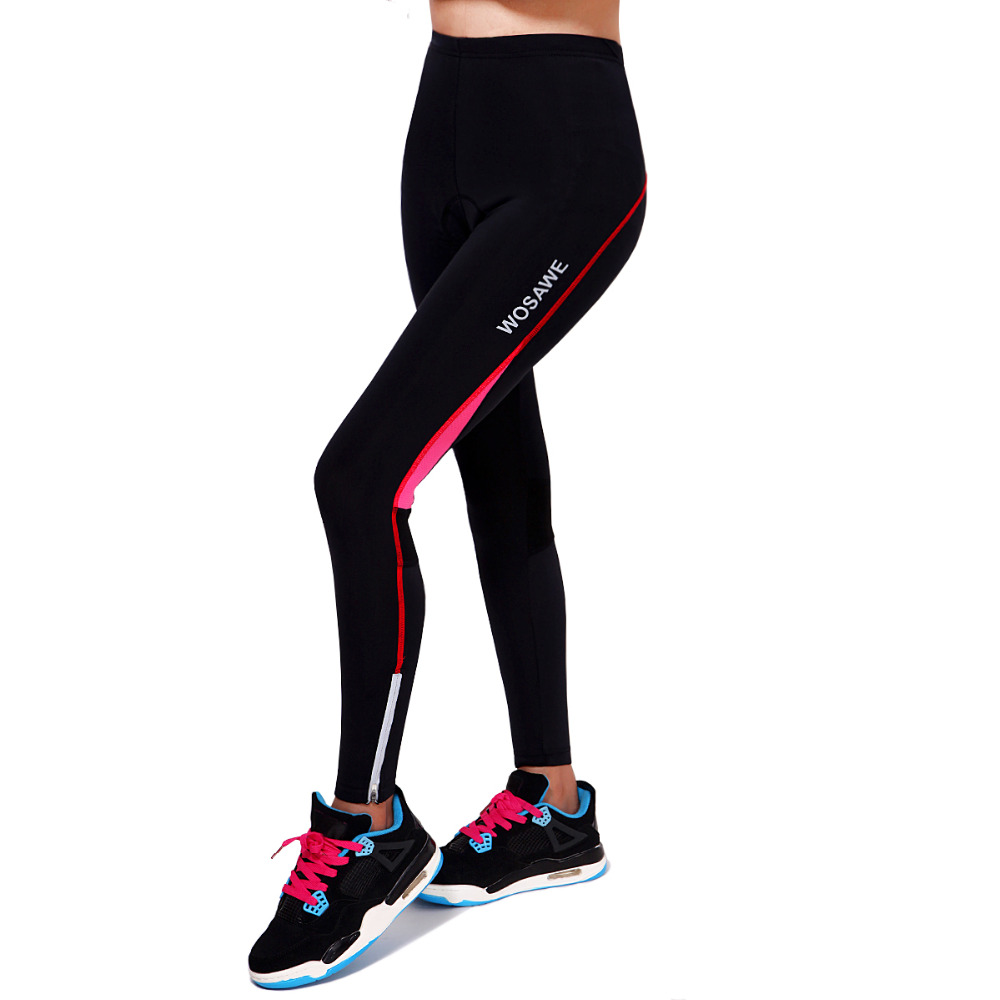 Ladies Women's New Design Tight Padded Cycling Long Pant