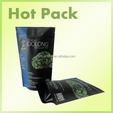 matte black customized 500g stand up ziplock pouch resealable chia seed bags
