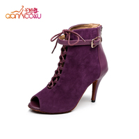 women sexy latin genuine leather latest high heel ladies shoes