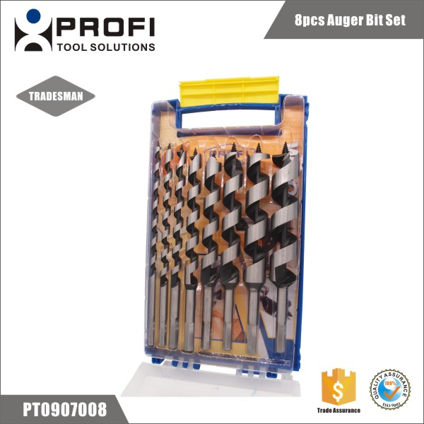 8pcs best price auger drill bit set for woodworking