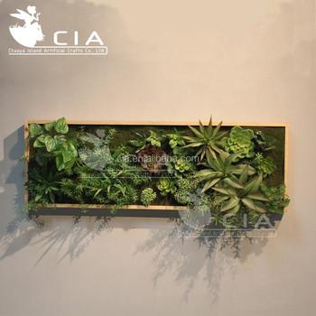 Artificial Framed Vertical Succulent Wall Garden Art