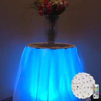 Wedding Ruffled Table Skirt Led Lights, Special Ruffled Table Skirt With  Changing Color Lights