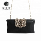 Luxurious pu pouch clutch women leather shoulder bag for lady