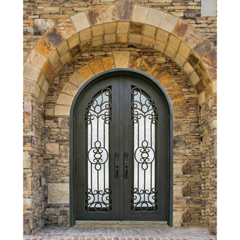 Wrought Iron Entrance Gates Exterior Front Double Entry Storm Arch