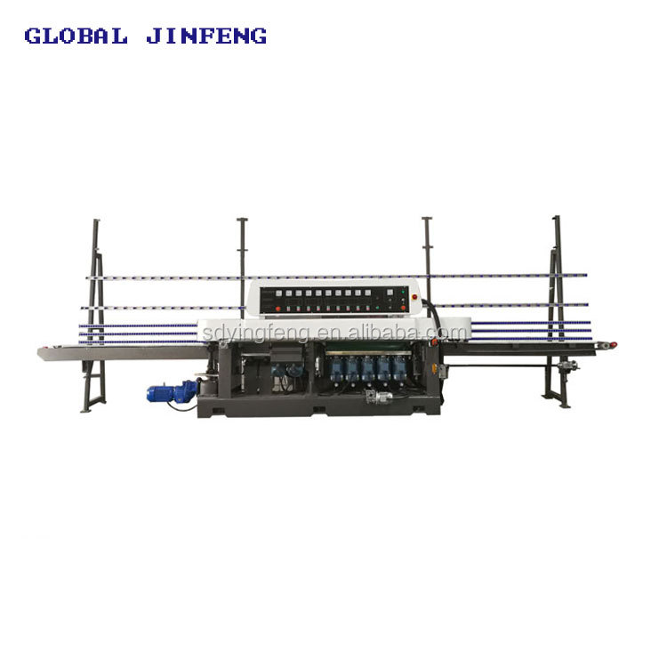 Global Jinfeng JFE9540 Multi Level Straight Line and 45 degree Glass grinding and polishing machine