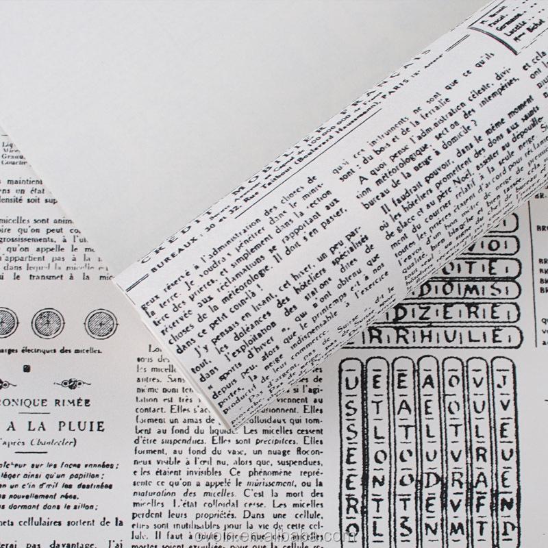 Très Cru Anglais Lettre Texturé Mur Papier Journal Papier Peint Rouleau  RO39