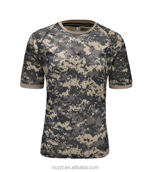 Nylon sport dry fit military shirt custom camo men plain t for Custom dry fit shirts