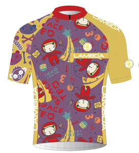comfortable cute children cycling jersey for child cycling suits
