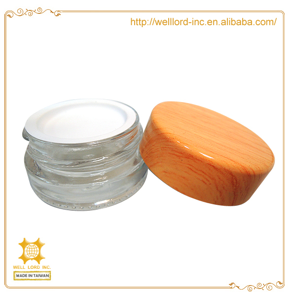 New elegant travel series 5 ml packaging glass lip balm containers