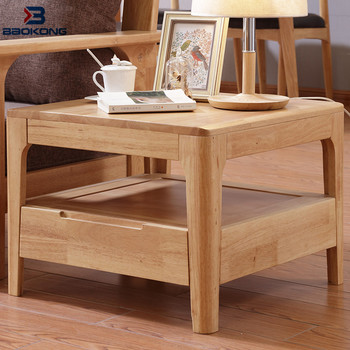 Sofa Wooden Side Table Modern Living Room Corner Design