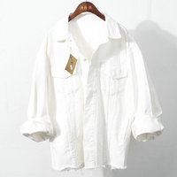 white color denim jean jacket wholesale