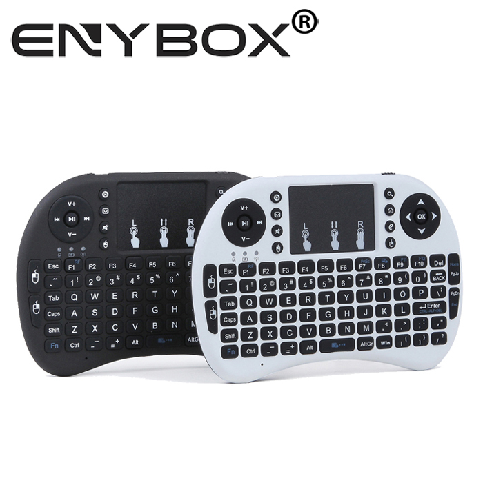 Wireless Gaming Keyboard Fly Air Mouse 2.4G Rii Mini I8 Touchpad Multi-Media Control Per Smart Tv Box Mini PC Laptop
