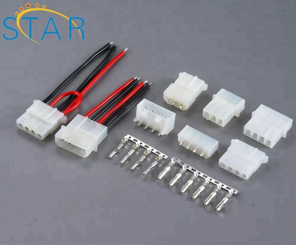 Factory Custom Electrical Molex 4 Pin 5.08mm Pitch Wire To Board Connector on