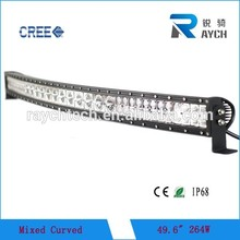 50 curvo led light bar 50 pollici curvo ibrido ha condotto la luce bar