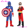 OEM accepted kids superhero costume cosplay captain america costume