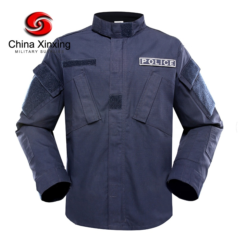 Custom Navy Blue Tactical Clothing Army Combat ACU Military Uniform for Police Outdoor Activity