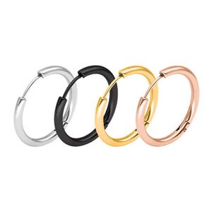 Fashion 316L Stainless Steel Steel Mens Womens Hoop Earrings