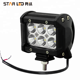moto accessories 4x4 spot wholesale offroad mini 18w led work light for car