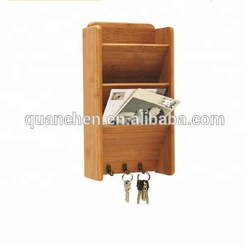 Decorative Bamboo Wall Letter Holder Mail