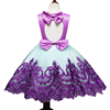 wholesale children's boutique clothes kids clothing baby girls cheap party pure wedding purple tutu dresses