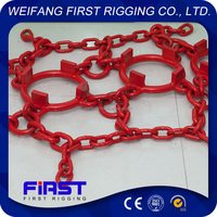 Wheel loader tire protection chain for loader