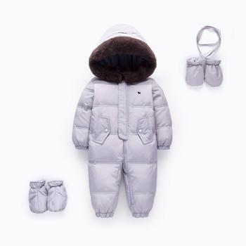 65bc40c10f84 2018 Baby Winter Romper Duck Down Infant Snowsuit Kid Jumpsuit ...