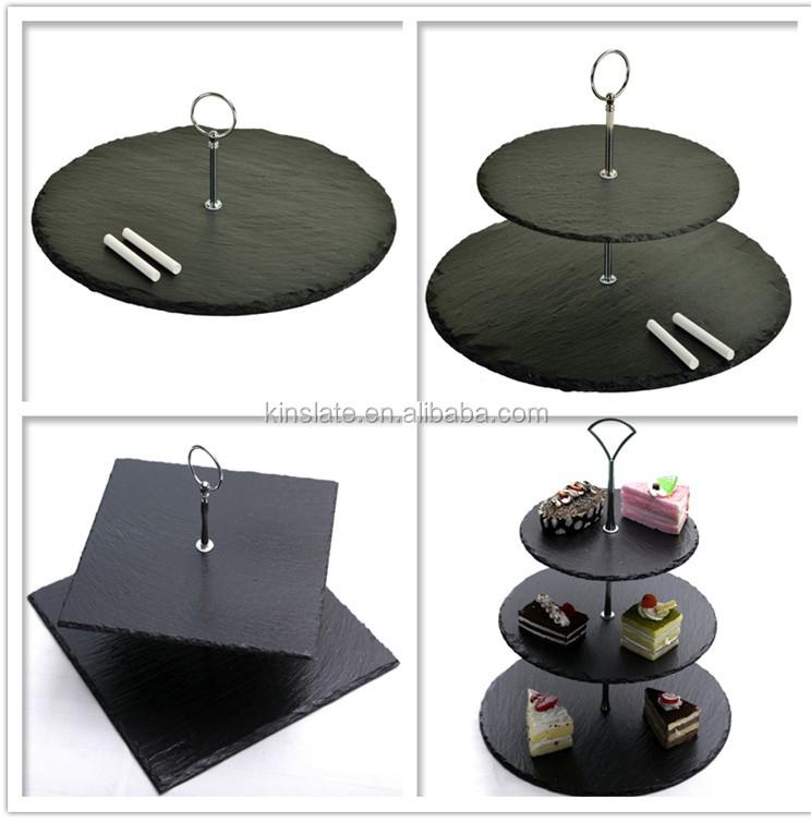 Romantic rectangle natural black cake plate three tier & Romantic Rectangle Natural Black Cake Plate Three Tier - Buy Cake ...