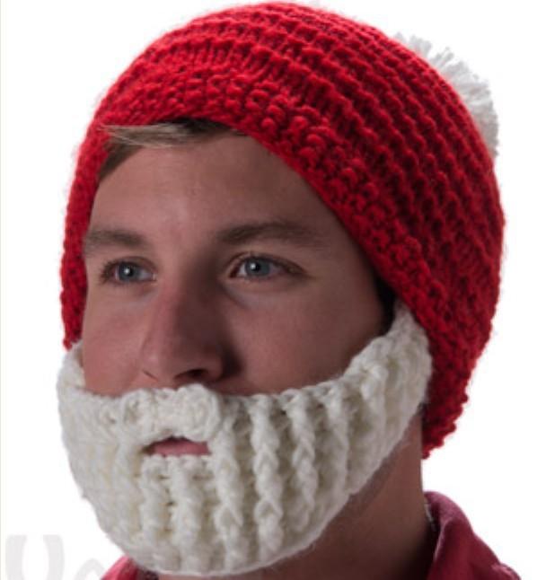 Crochet Christmas Beard Hatknitting Winter Hat Beaniesanta Hat