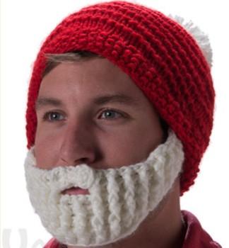 f7c3185fae71a Crochet Christmas Beard Hat