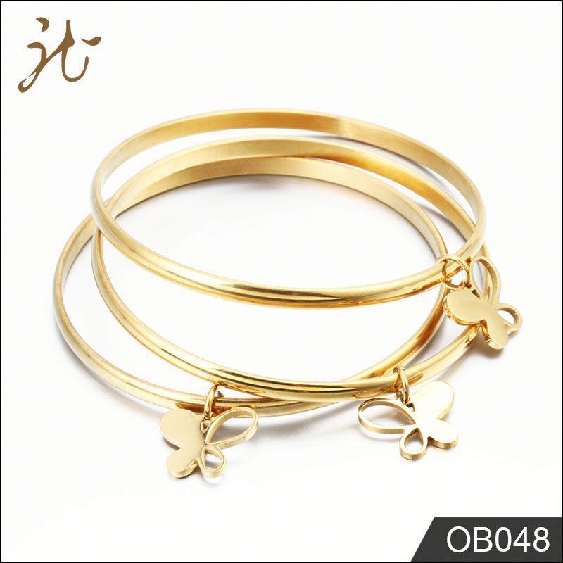 Factory Supply 18k Gold Bangle Saudi Arabia Jewelry